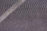 Couro novo do plutônio do falso do Glitter da grão da serpente para sapatas, sacos, mobília, vestuário, (HS-Y18)