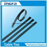 Hohe Widerstand-Kleber-überzogene Strichleiter-multi Widerhaken-Edelstahl-Kabelbinder