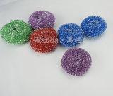 Размыватель сетки шарика чистки глянцеватой кухни пластичный для утварей металла