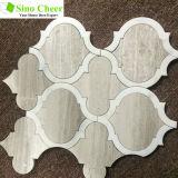 Плитки мозаики Carrara формы фонарика белые для конструкции искусствоа