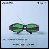 635nm、808nmの灰色フレーム55が付いている赤そしてダイオードのレーザー(RTD-3 630-660nm及び800-1100nm)のための980nmレーザーの保護Eyewear
