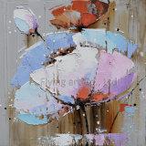 Art moderne acrylique de mur de peinture à l'huile de fleur