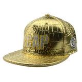 カスタム高品質の方法6パネルPUの革帽子の平らな縁の急な回復の帽子