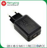 Stop in Lader USB 5V 2A van de Stop van de EU van het Type de Witte 3 Jaar van de Garantie