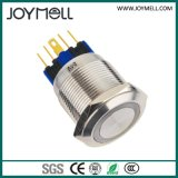 Pulsador eléctrico del amarillo del metal del Ce LED de la alta calidad