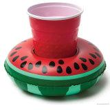 Celebración de días festivos de PVC o TPU inflable flotante del flamenco Can Holder
