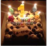 Candela di lusso di compleanno della cera, candela di compleanno della cera