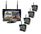9 Polegadas 4CH Monitor Digital Sem Fios da Câmara de visualização traseira Sem Fio para caminhões e Trailors