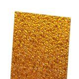 El panel de pared grabado diamante plástico de bronce del policarbonato