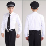 Katoenen Witte Overhemden en de Zwarte Eenvormige Reeksen van de Veiligheidsagent van de Broek