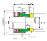Aesseal M02s에 의하여 기계로 가공되는 기계적 밀봉 (TS 8-B1)