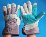 Anti-Scratch Cuero de vaca de la seguridad de protección guantes de trabajo