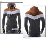 Progettare il panno morbido per il cliente lungo di Pola del maglione degli uomini del manicotto