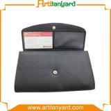 Бумажник кожи логоса конструкции клиента