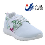 2016 Nouveau Hot vente tissu mesh et fleur Lady chaussure de sport d'injection supérieure