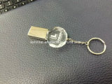 O metal Memory Stick USB Flash Drive USB de Cristal