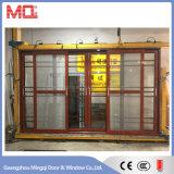 Алюминиевые раздвижные двери из стекла с решетки и противомоскитные сетки