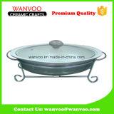 Diverso color de la venta caliente antiadherente Recipiente de cerámica con tapa de vidrio
