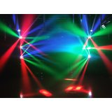 Mini RGBW Spider 8X3W Cabezal movible LED de iluminación para DJ