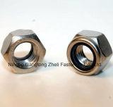 Écrous de blocage galvanisés de nylon de Cr+3 DIN985