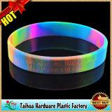 Изготовленный на заказ голубое свечение в темном браслете силикона (TH-band099)