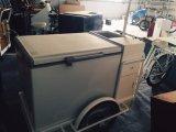 Передвижной автомобиль заедк хота-дога тележки мороженного тележки еды с надувательством рамки нержавеющей стали любит горячие торты