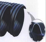 Труба из волнистого листового металла спирали HDPE стальной полосы усиленная