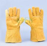 Двойные перчатки ладони для перчаток работника/двойной ладони кожаный для сбывания