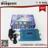 Surface de couverture 1000 mètres carrés CDMA 2g 850MHz Mini Booster de signal avec antennes pour la maison