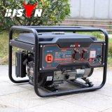 バイソン3kwの携帯用7HPガソリン機関の手動クランクの発電機