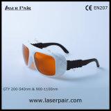 De Bril van de Veiligheid van de laser/Beschermende brillen voor 2 Lijn YAG en Ktp, de Golflengte van /Protect van de Verwijdering van de Tatoegering: 200540nm & 900-1100nm/Beschikbaar voor: 532nm & 1064nm met Frame 36