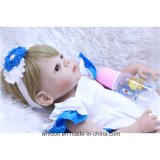 """22 """" заново родившийся младенец - силикон куклы для принесенного девушкой подарка кукол"""
