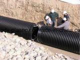 Труба замотки стены полости большого диаметра HDPE