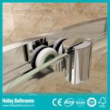 Boite coulissante pour douche de secteur avec cadre en alliage d'aluminium et verre trempé (SE913C)