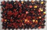 Couro sintético à moda do plutônio do Glitter para a decoração Hw-1747 das sapatas