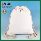 Backpack Drawstring холстины хлопка способа для студента школы