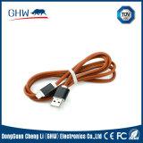 Modèle de remplissage en cuir de mode de câble du point USB
