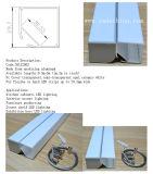 Profilo di alluminio accantonato messo superiore dell'espulsione LED per la striscia del LED