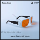 Gafas de seguridad de laser/anteojos para 2 la línea YAG y Ktp, longitud de onda de /Protect del retiro del tatuaje: 200-540nm y 900-1100nm/disponibles para: 532nm y 1064nm con el marco 36
