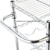 Многофункциональная регулируемая вагонетка кухни металла крома с ручкой (1309320)