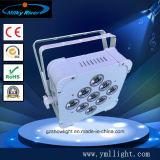 배터리 전원을 사용하는 & 무선 DMX 원격 제어 LED 동위 빛 무선 DMX LED 동위 빛 무선 DMX LED 벽 세탁기