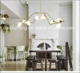 Lámpara ligera colgante de cristal del germen del diseño creativo moderno LED