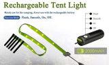 Luz recarregável da barraca da luz da corda do diodo emissor de luz
