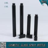 5 ml 10ml 15ml Flacons en verre de couleur noire Shinny bouteilles de parfum vaporisateur avec brouillard pulvérisateur
