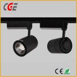 indicatore luminoso di soffitto di alluminio grigio del riflettore dell'indicatore luminoso LED della pista del corpo LED di 24W 30W AC85-265V PAR30