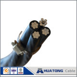 Двухшпиндельный кабель ACSR пачки /Aerial кабеля падения обслуживания (алюминиевая усиленная сталь проводника)