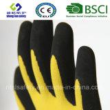 Латекс заморозил перчатки, перчатки работы безопасности отделки Sandy (SL-RS301)