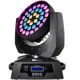 36PCS*10W RGBW 4in1 LED 점화 DMX 이동하는 맨 위 급상승 세척 빛 디스코 빛 당 빛