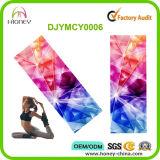 Estera de lujo de la yoga del recorrido de los diamantes brillantes antideslizantes del color