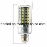 LEDのトウモロコシライトE27 25Wは白い銀製カラーボディLED球根ランプを冷却する